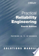 Solutions Manual to accompany Practical Reliability Engineering, 4th Edition