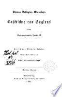 Geschichte von England seit dem Regierungsantritte Jacob's II.