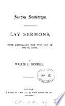 Sunday snowdrops  lay sermons