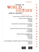 Survey of World History  1789 to Present   Vol ume B