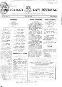 Pdf Connecticut Law Journal