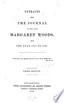 Extracts from the Journal of the Late Margaret Woods Book