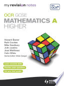 My Revision Notes Ocr Gcse Specification A Maths Higher Epub