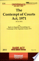 The Contempt Of Courts Act 1971 Book PDF