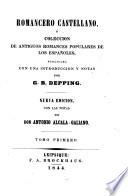 Romancero castellano o coleccion de antiguos romances populares de los espanoles