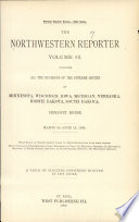 The Northwestern Reporter