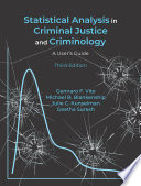 Statistical Analysis in Criminal Justice and Criminology