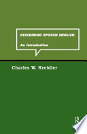 Describing Spoken English