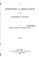 A History of England in the Eighteenth Century