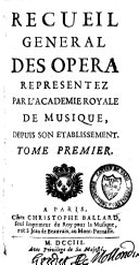 Recueil général des opéra
