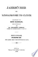 Jahrbücher für Nationalökonomie und Statistik