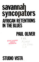 Savannah Syncopators  African Retentions in the Blues
