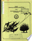 Joint Guayule Rubber Program  Processing Operations Book
