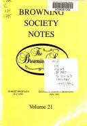 Browning Society Notes