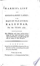 Harris's List of Covent-Garden Ladies