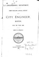 Annual Report of City Engineer