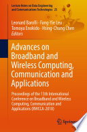 Advances on Broadband and Wireless Computing  Communication and Applications