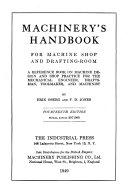 Pdf Machinery's Handbook for Machine Shop and Drafting-room