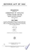Revenue Act Of 1962
