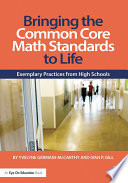 Bringing the Common Core Math Standards to Life Book