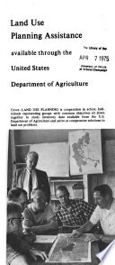 Land Use Planning Assistance Available Through The United States Department Of Agriculture