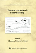 Towards Innovation In Superplasticity I Book PDF