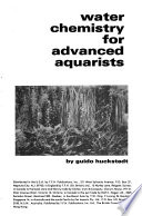 Water chemistry for advanced aquarists