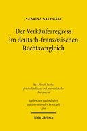 Der Verkäuferregress im deutsch-französischen Rechtsvergleich