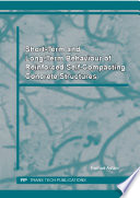 Short Term and Long Term Behaviour of Reinforced Self Compacting Concrete Structures Book