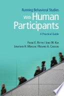 Running Behavioral Studies With Human Participants Pdf/ePub eBook