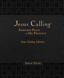 Jesus Calling Note Taking Edition  Leathersoft  with Full Scriptures  Enjoying Peace in His Presence  Black