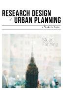 Research Design in Urban Planning Pdf/ePub eBook