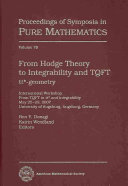 From Hodge Theory to Integrability and TQFT [Pdf/ePub] eBook