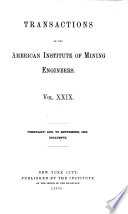 Transactions of the American Institute of Mining, Metallurgical and Petroleum Engineers