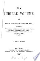 My jubilee volume  verse   Book