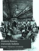 Western Reserve University Bulletin