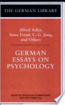 German Essays on Psychology