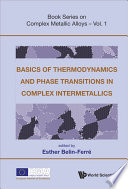 Basics of Thermodynamics and Phase Transitions in Complex Intermetallics