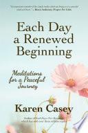 Each Day a Renewed Beginning Book
