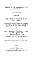 Geology of East Somerset and the Bristol Coal fields