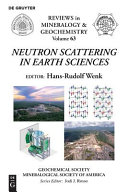 Neutron scattering in earth sciences
