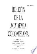 Boletín de la Academia Colombiana