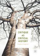 Critique as Critical History Pdf/ePub eBook