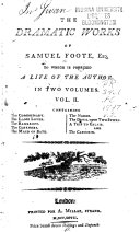 The Dramatic Works of Samuel Foote: The commissary