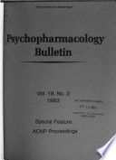 Psychopharmacology Bulletin Book PDF