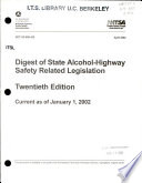 Digest of State Alcohol-highway Safety Related Legislation