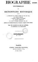 Dictionnaire historique ou biographie universelle classique