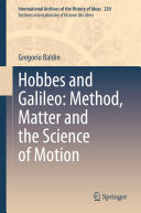 Pdf Hobbes and Galileo: Method, Matter and the Science of Motion Telecharger