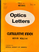 Optics Letters Book