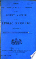 Report of the Deputy Keeper of the Public Records